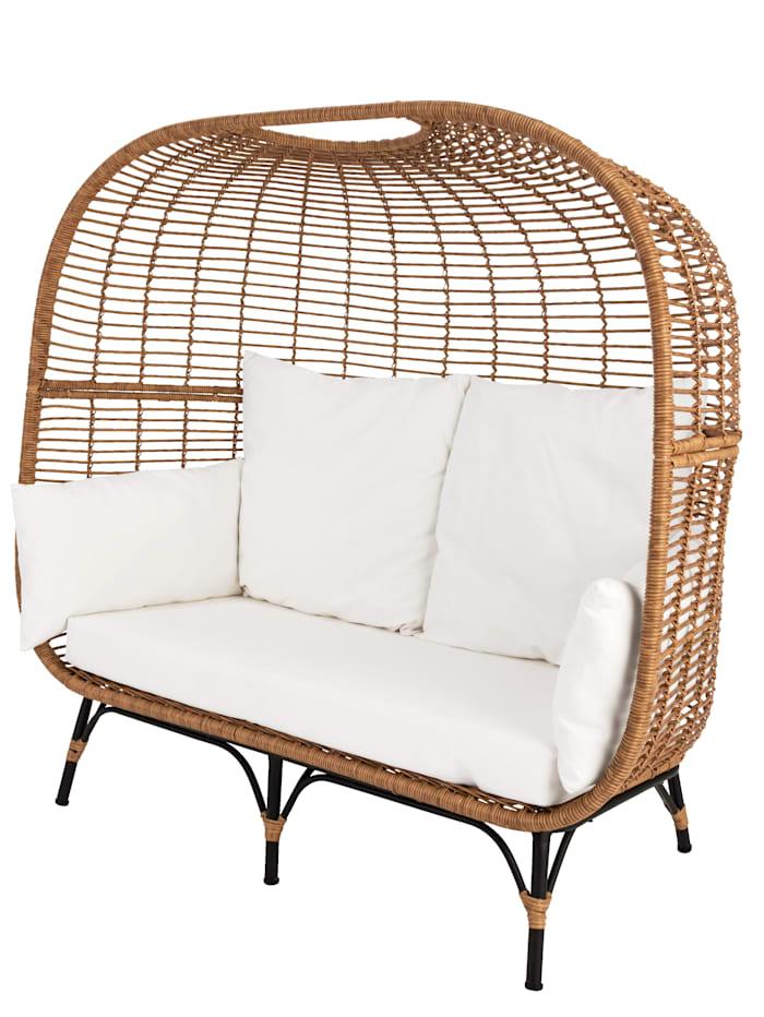 IMPRESSIONEN living Outdoor-Lounge, natur/weiß