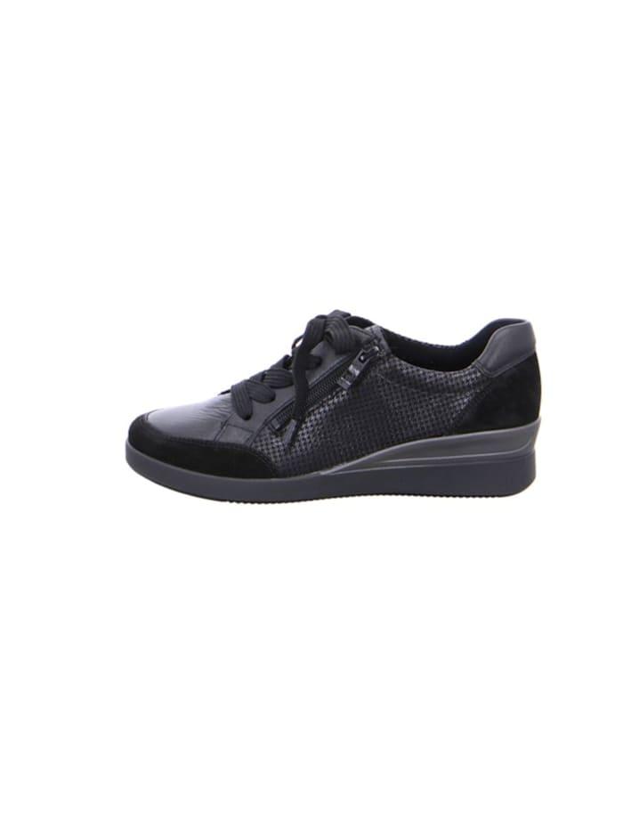 Damen Schnürschuh in schwarz