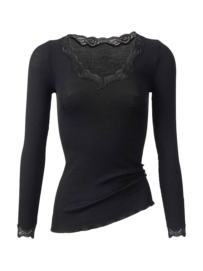 Calida Langarm-Shirt aus Wolle & Seide Ökotex zertifiziert, black