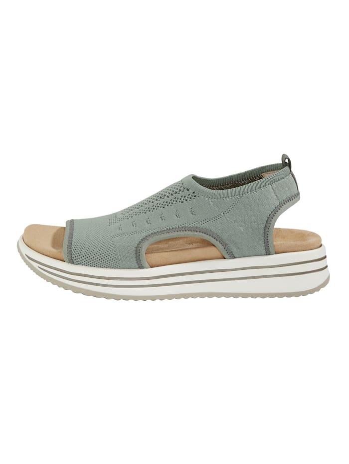 Sandale welche mit 2 Wechselfußbetten geliefert wird