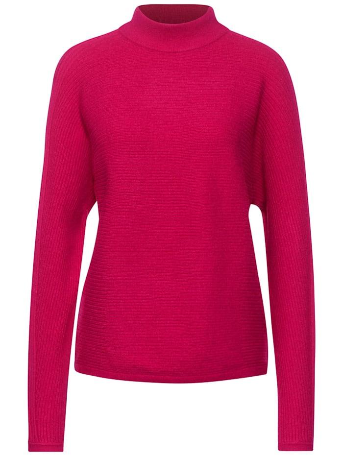 Street One Pullover mit Dolmanärmeln, raspberry pink melange
