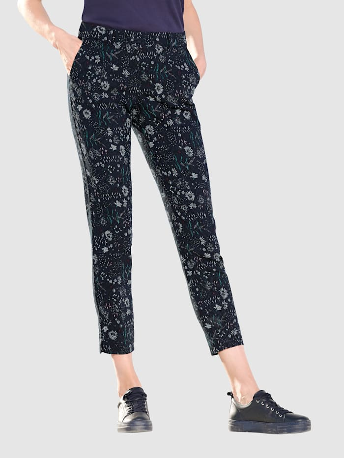 Jacquard Trousers with side pockets