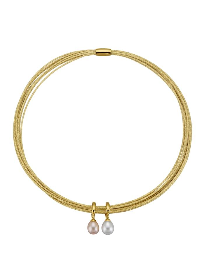 Halsband med clipshängen, Guldfärgad