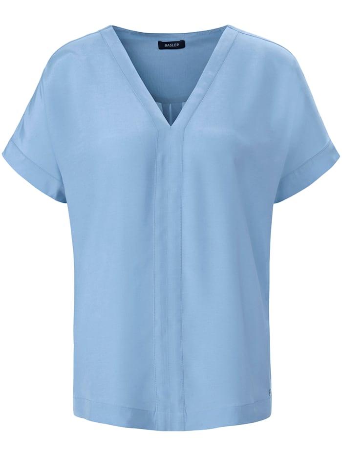 Basler Blusenshirt mit V-Ausschnitt, air