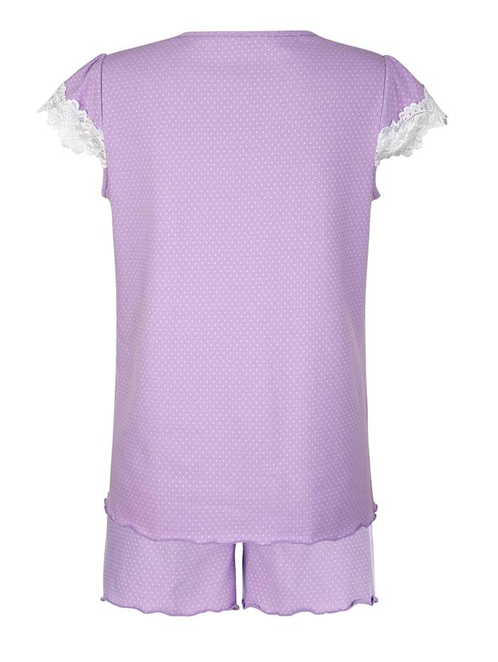 Pyjamas med korta ärmar och korta ben