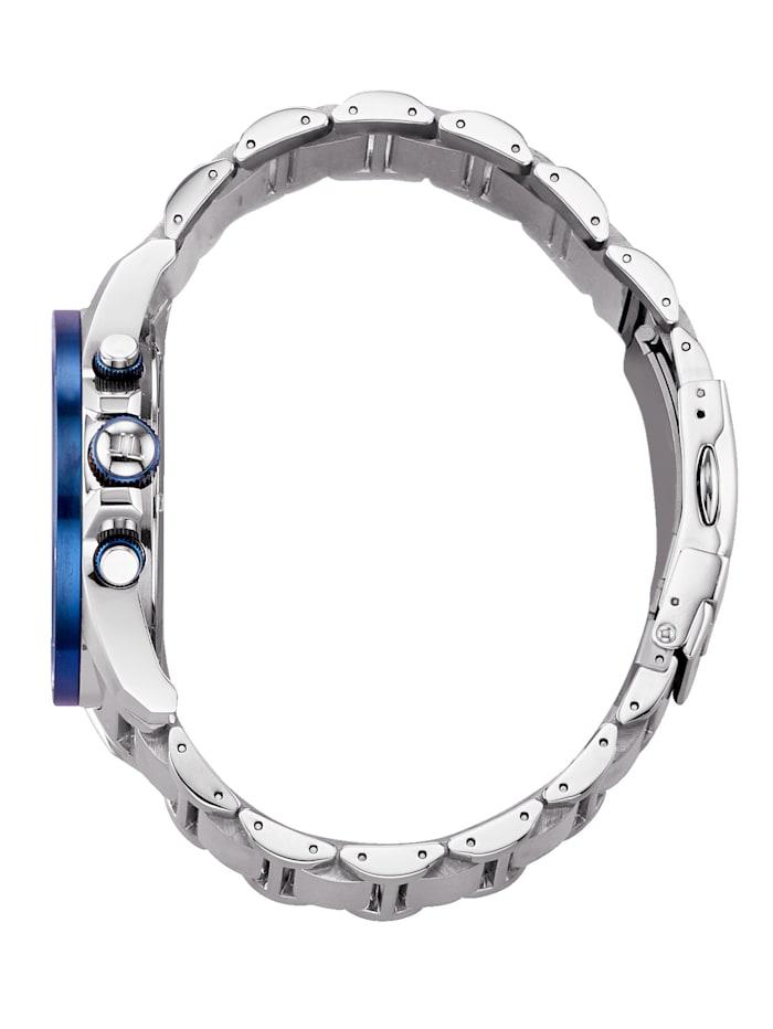 Herren-Uhr Chronograph blau/silber 1-1812F