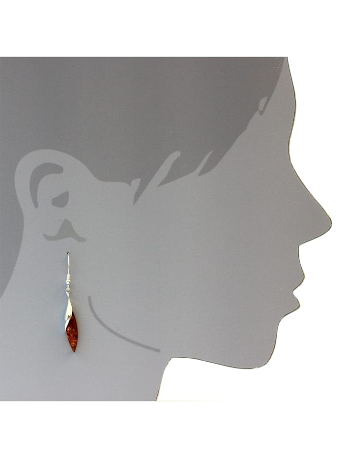 Ohrhänger - Rosali - Silber 925/000 - Bernstein