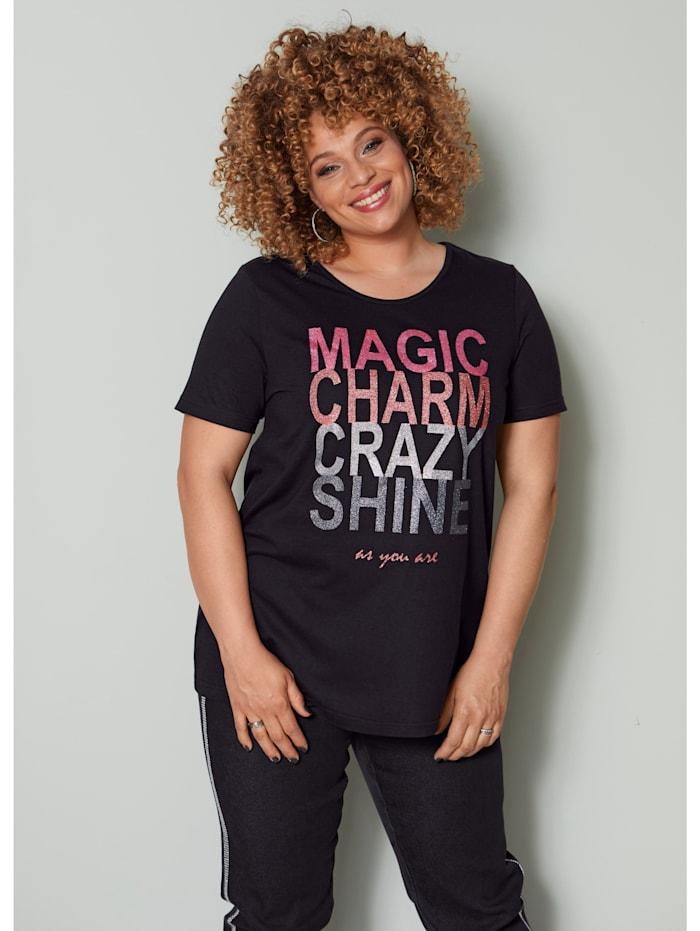Shirt mit Glitzerschriftzug