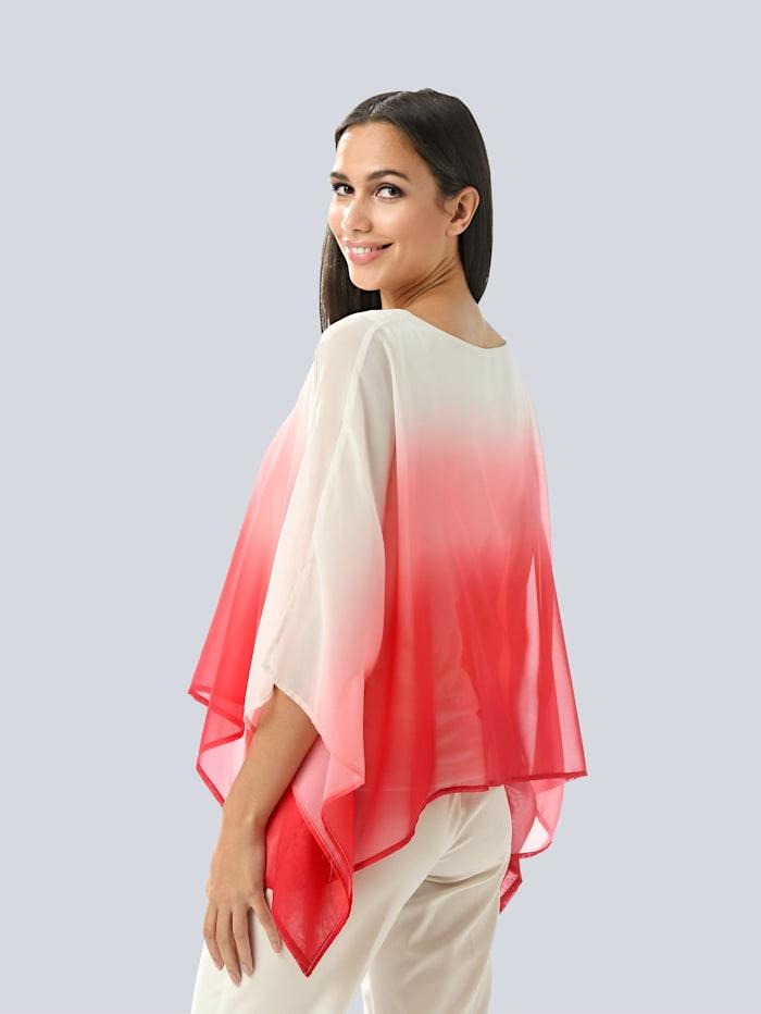 Bluse mit modischem Farbverlauf