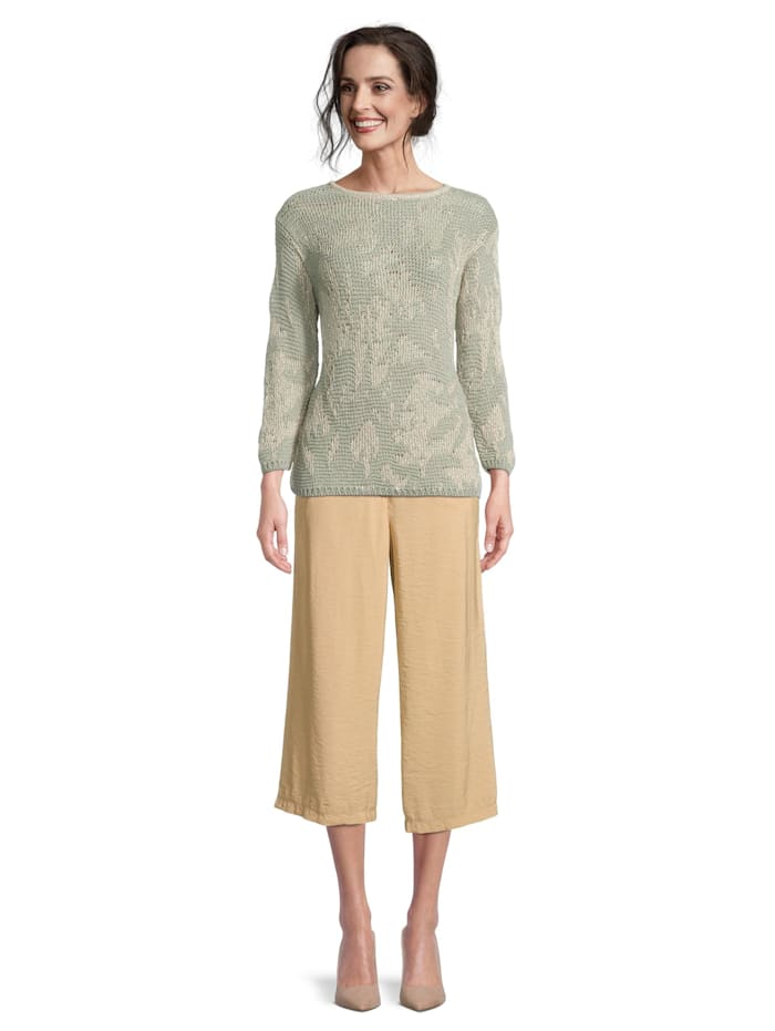 Betty Barclay Strickpullover mit Jacquard, Green-Nature