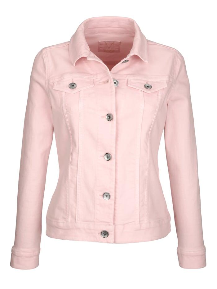 Jeansjacke in elastischem Baumwoll-Twill