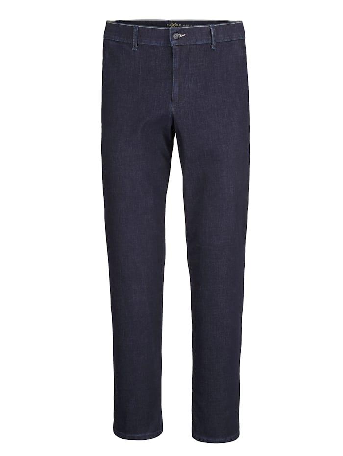 BABISTA Jean à coutures contrastantes, Bleu foncé