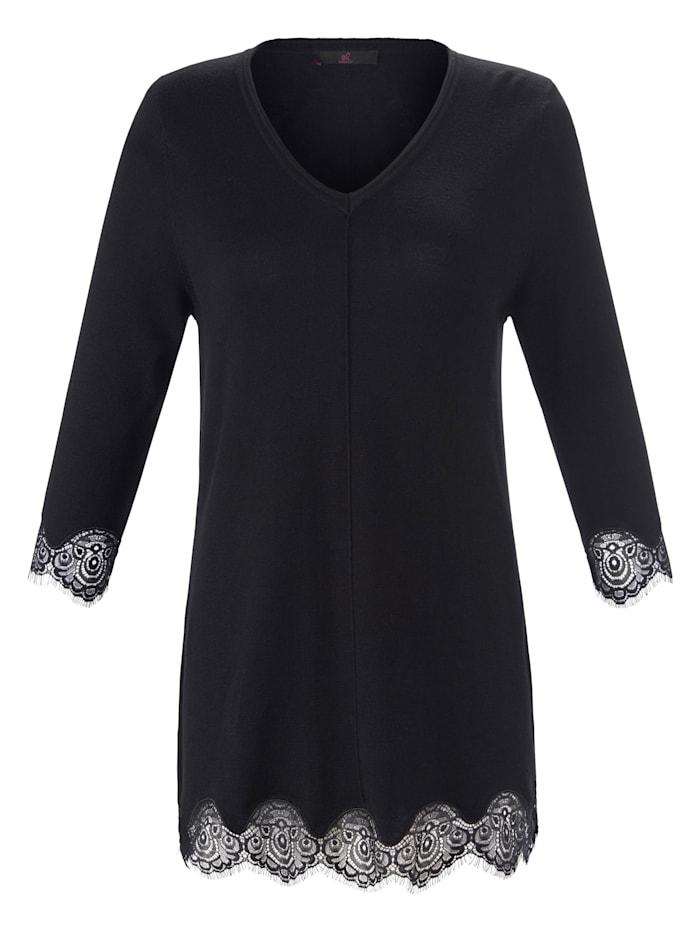 Emilia Lay 3/4 Arm-Pullover Pullover, schwarz