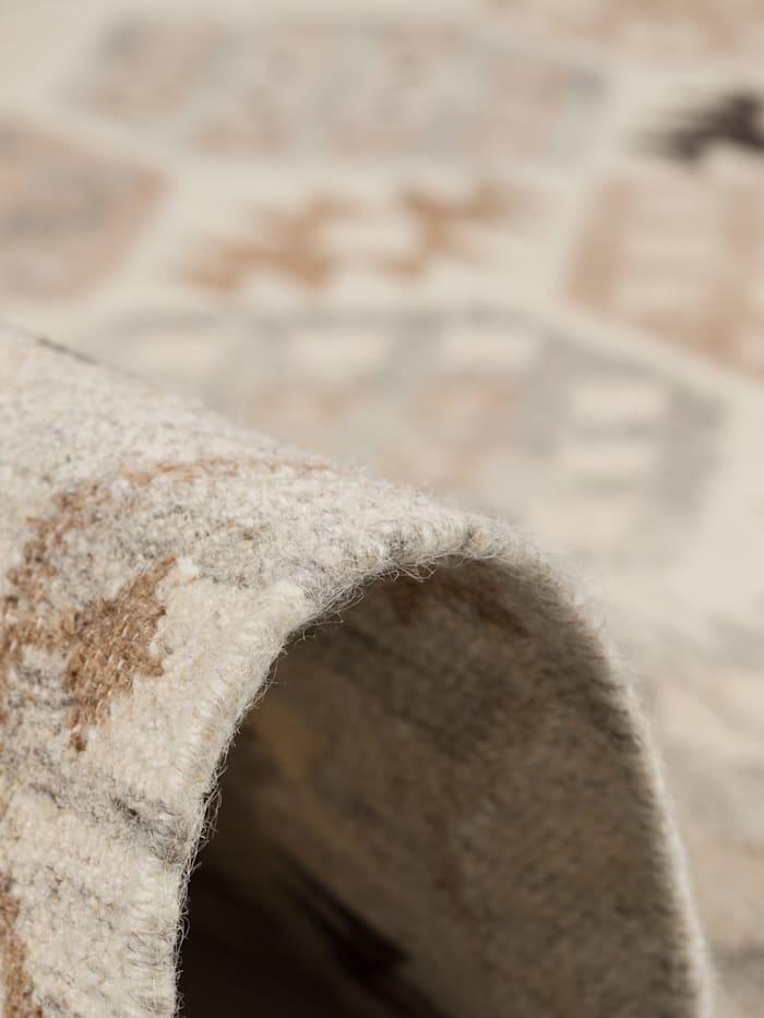 Natur Teppich Kelim Sumak Bordüre