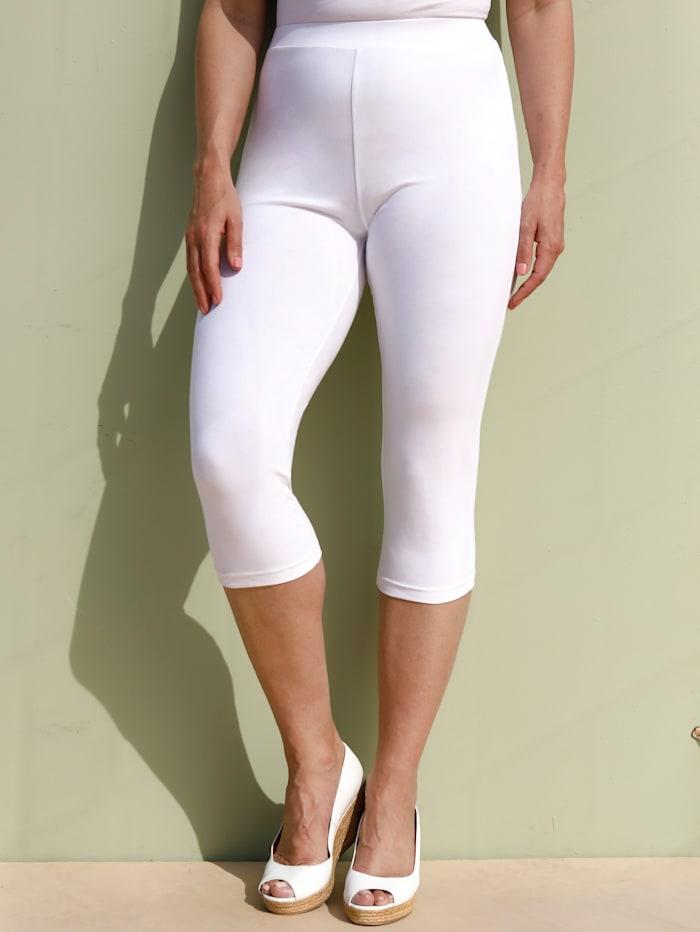 MIAMODA Legging de coupe confortable, Blanc