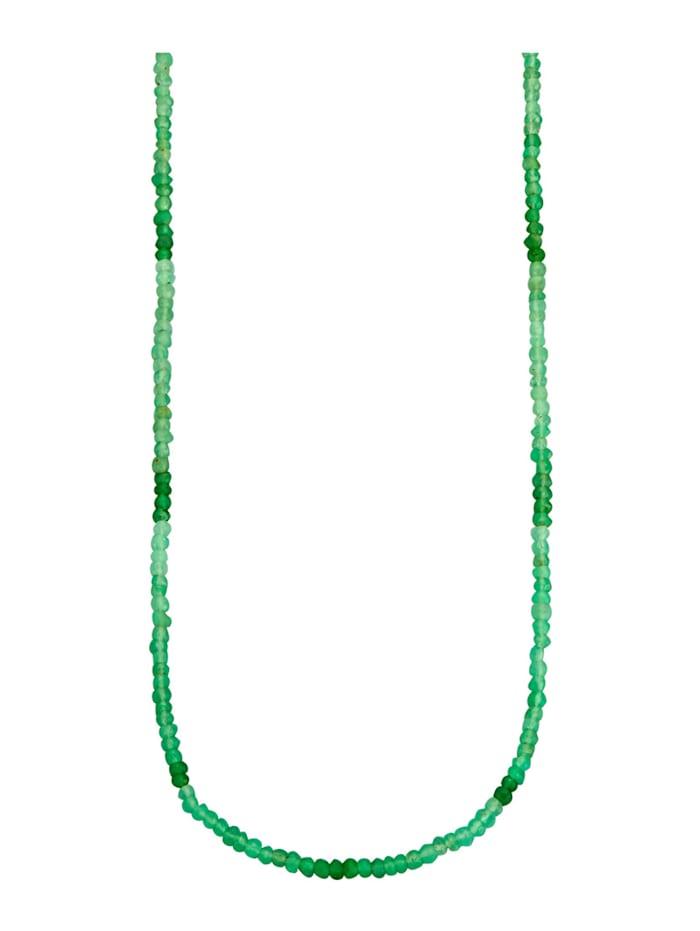 Chrysopras-Kette, Grün