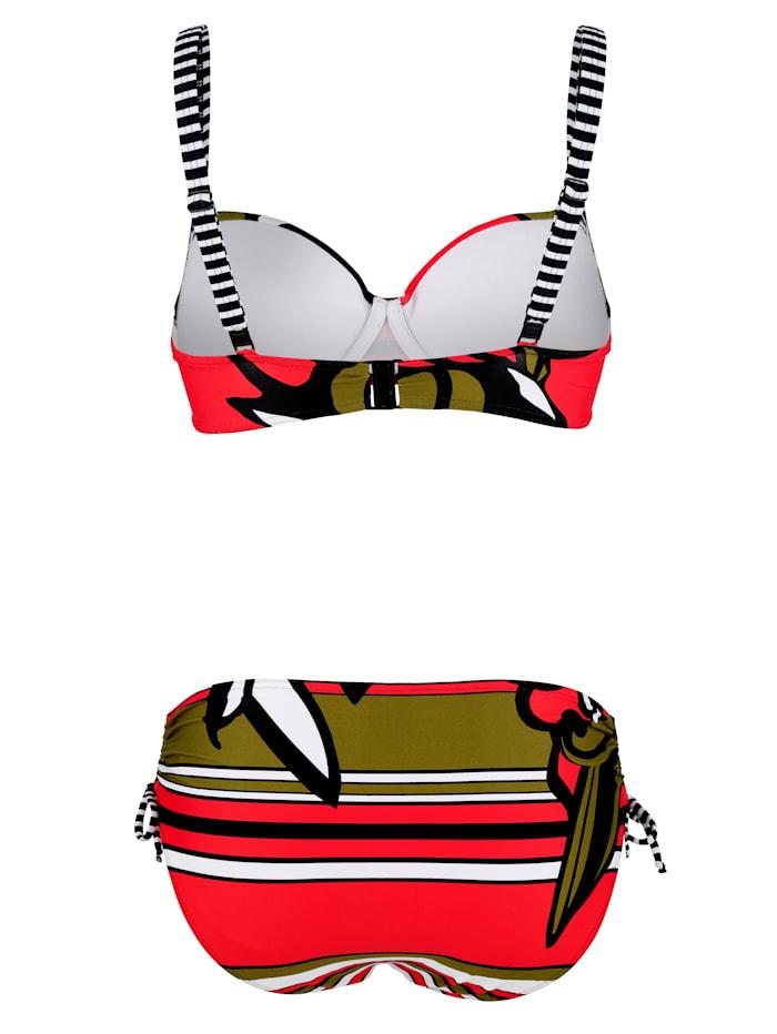 Bikini met gestreepte details