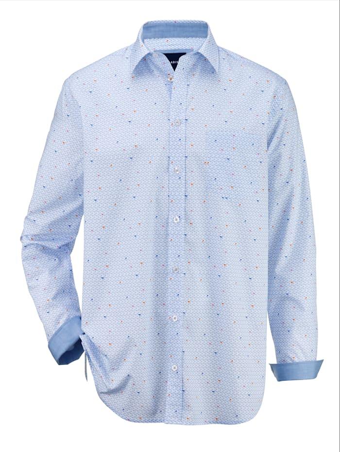 BABISTA Overhemd met trendy patroon, Lichtblauw