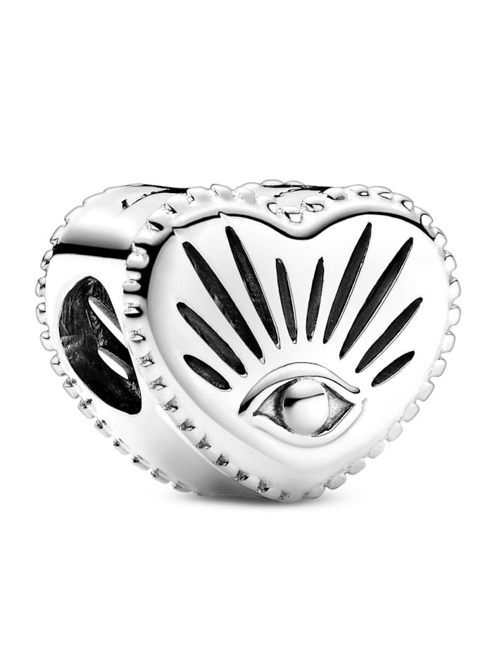 Pandora Charm -Allsehendes Auge und Herz- 799179C00, Silberfarben