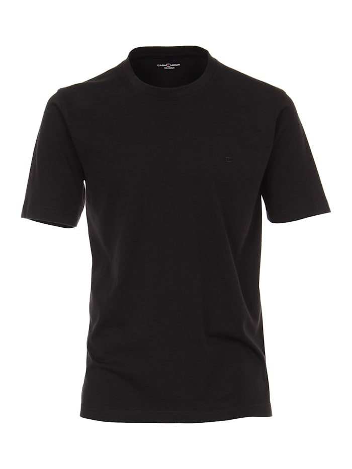 CASAMODA T-Shirt uni, Schwarz