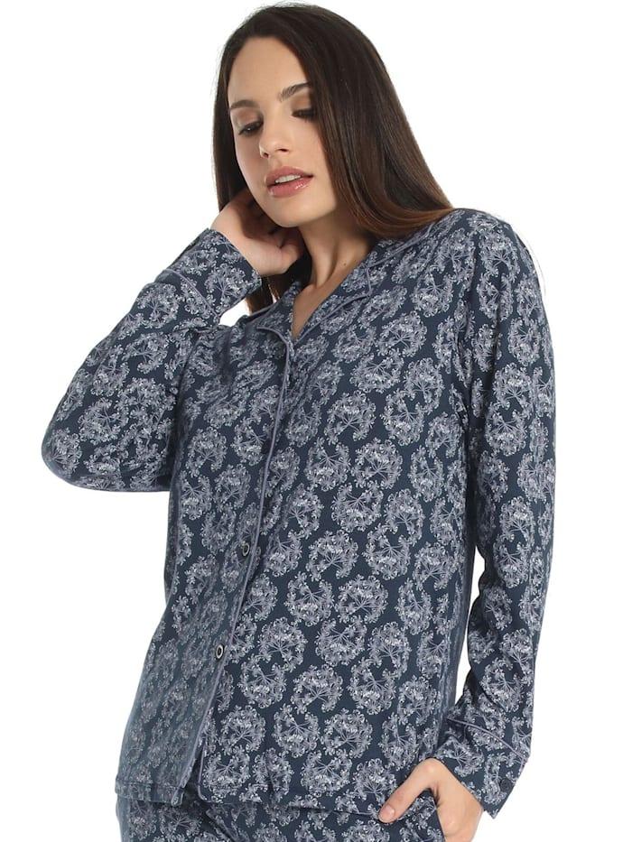 sassa Pyjama Oberteil MISTY GARDEN, deep blue