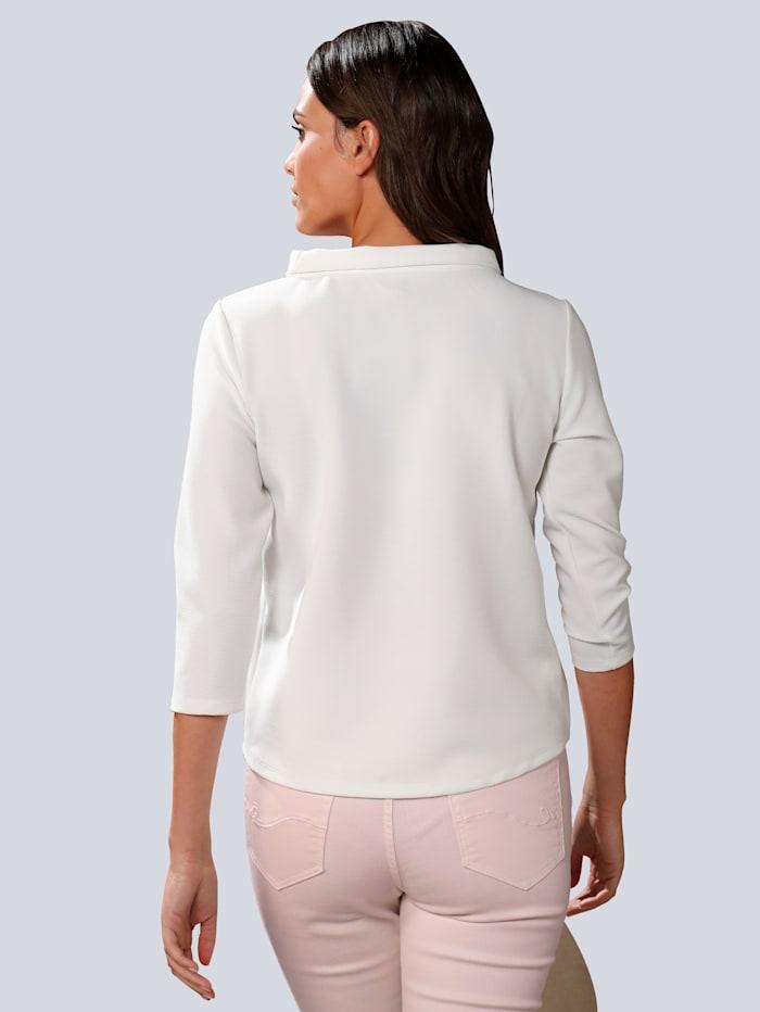 Shirt met wijde opstaande kraag
