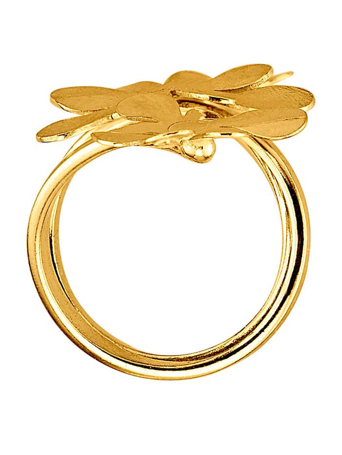 Damenring in Silber 925, vergoldet