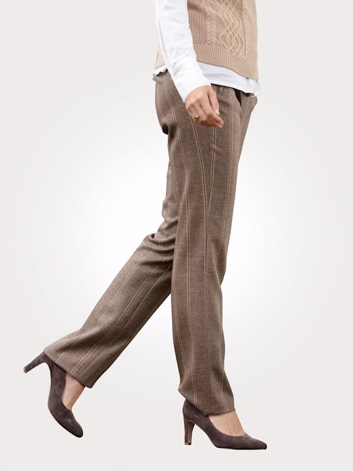 Pantalon à rayures tissées