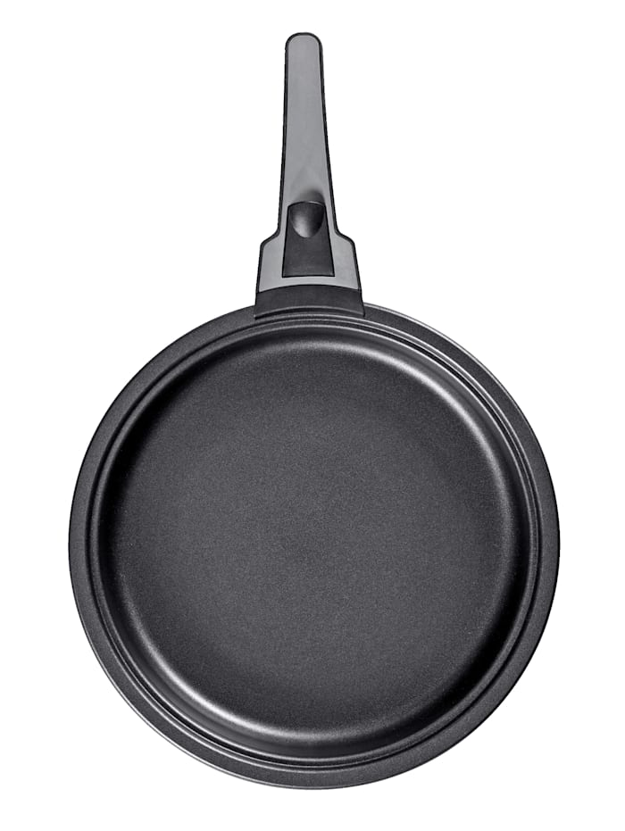 Bratmaxx 3tlg. BRATmaxx Aluminium-Pfannen-Set 'Click on', grau