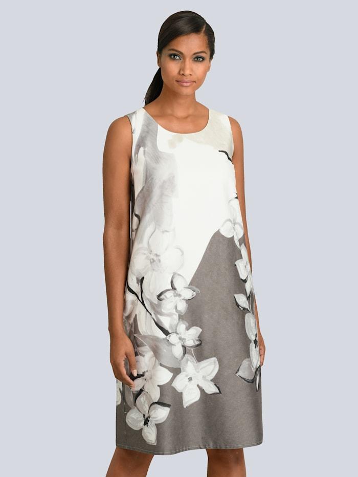 Alba Moda Kleid aus edler Baumwoll-Mischung, Off-white/Taupe
