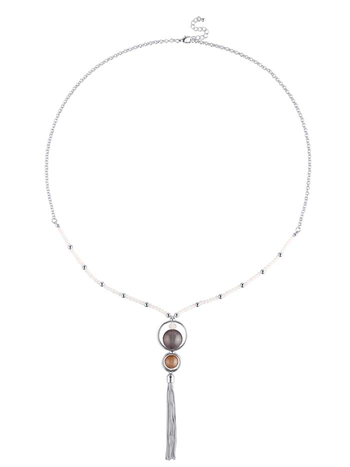 Collier avec pompon en chaîne