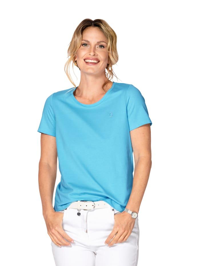 MONA Shirt aus Cotton made in Africa, Türkis