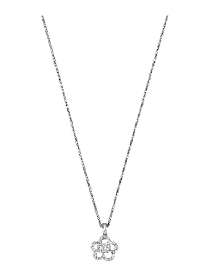 Amara Diamants Pendentif avec 43 brillants, Blanc