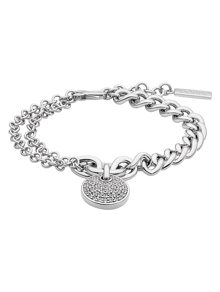 Jette JETTE Silver Damen-Armband 925er Silber 46 Zirkonia, silber