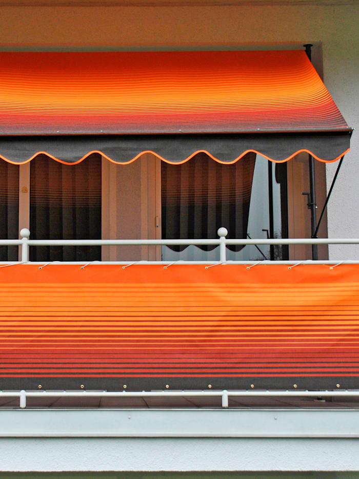 Luxus Klemmmarkise 400 cm mit Volant-Abschluss