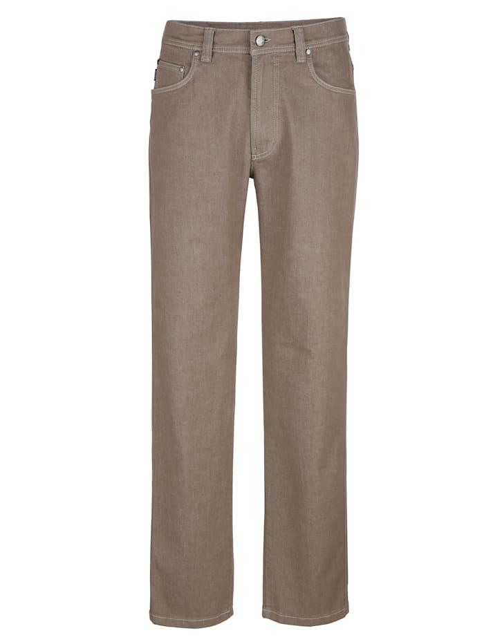 Brühl 5-Pocket Jeans in Marken-Qualität, Beige
