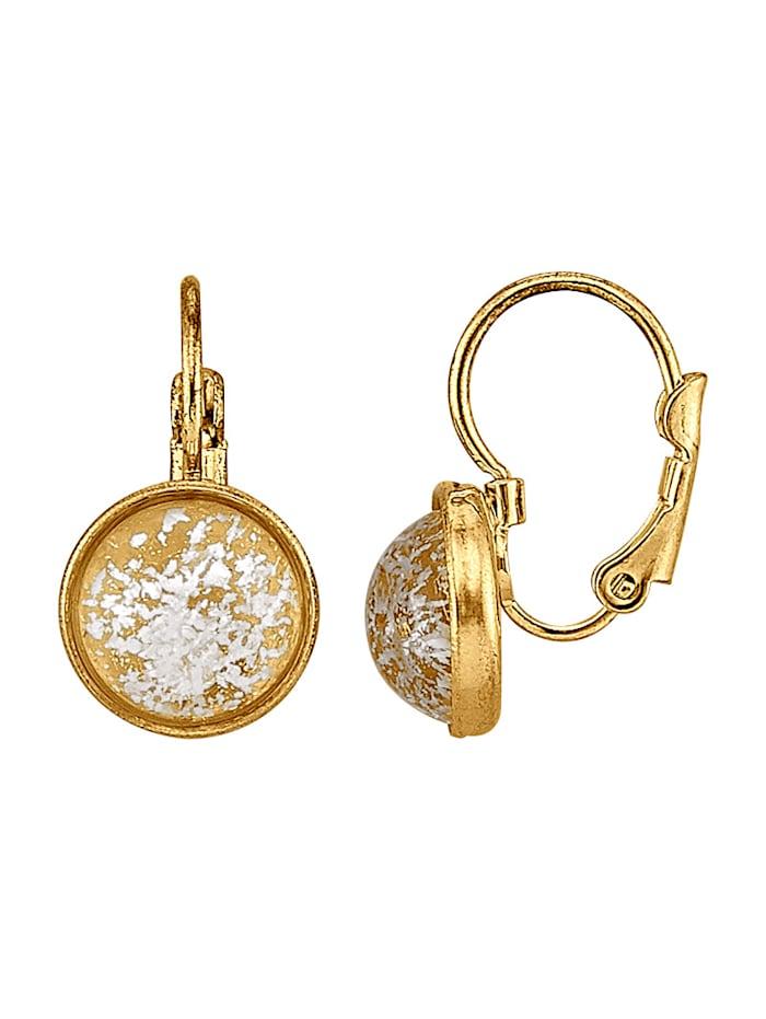 Golden Style Ohrringe vergoldet, Gelbgoldfarben