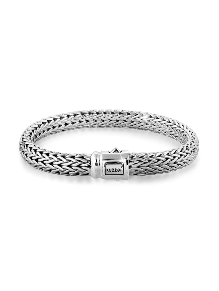 Kuzzoi Armband Herrenschmuck Panzerarmband Basic Cool 925 Silber, Silber