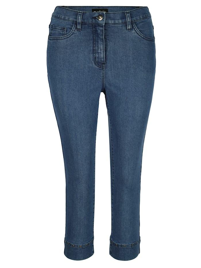 Capri-Jeans mit Dekonieten in Sternchen-Form