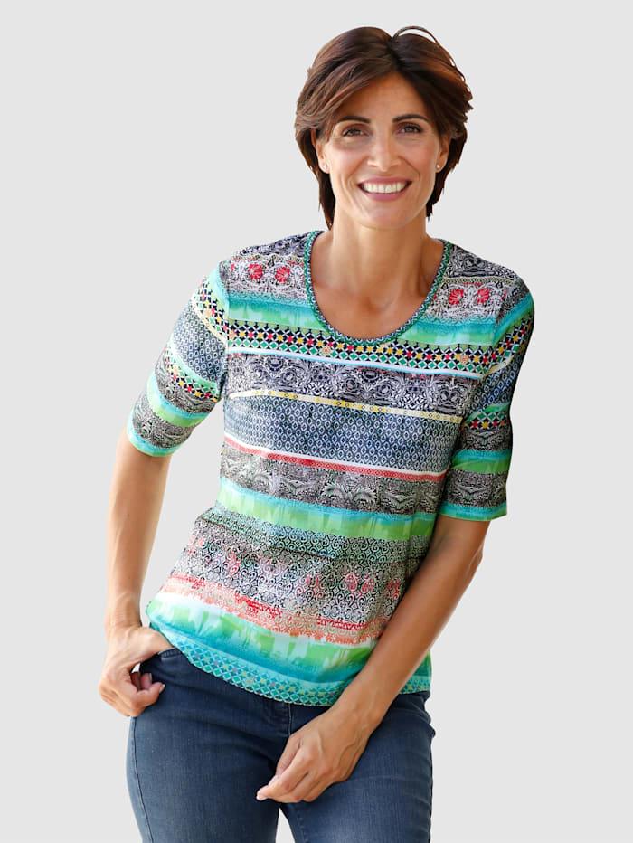 Paola Shirt von RABE, Grün/Marineblau