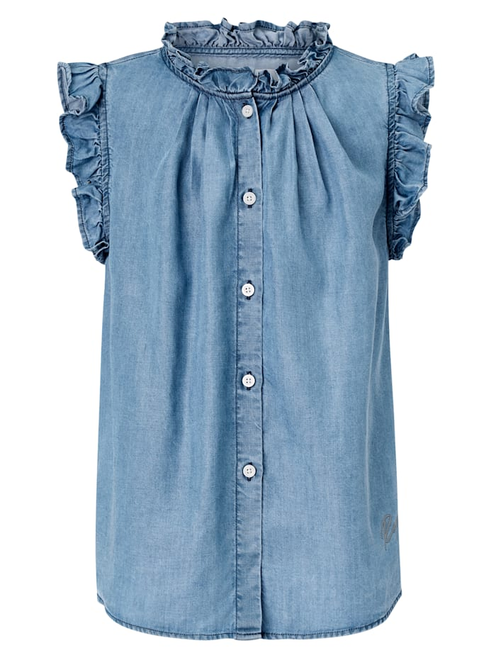 REPLAY Jeansbluse Kids, Jeansblau