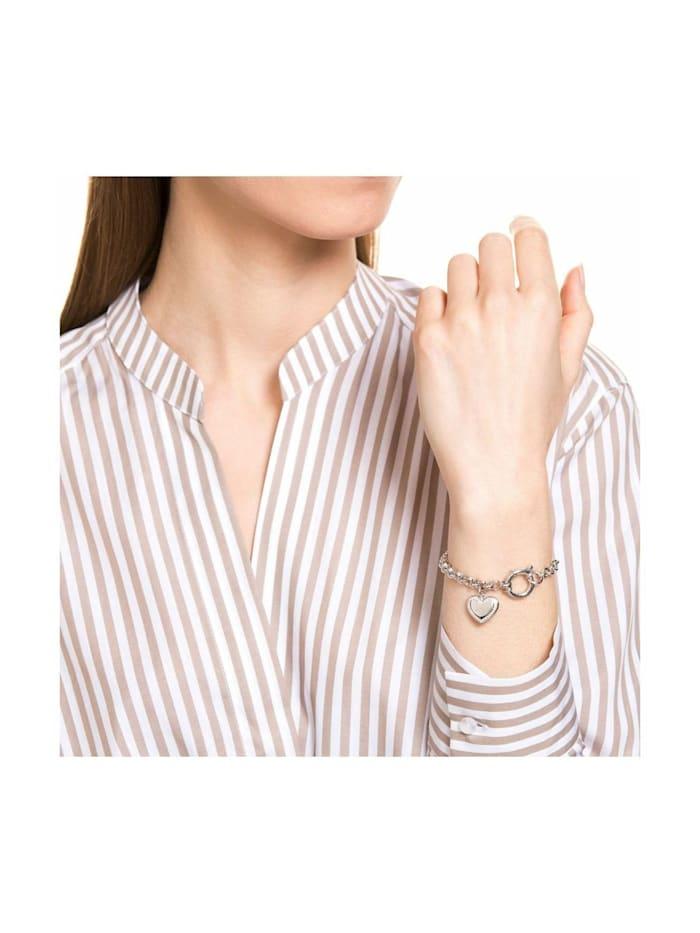 Armband 17+3 cm lange Damen Armkette von JOOP! mit Herz-Anhänger, Silber 925, Zirkonia