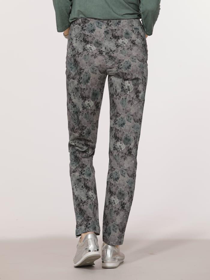 Pantalon à imprimé fleuri harmonieux
