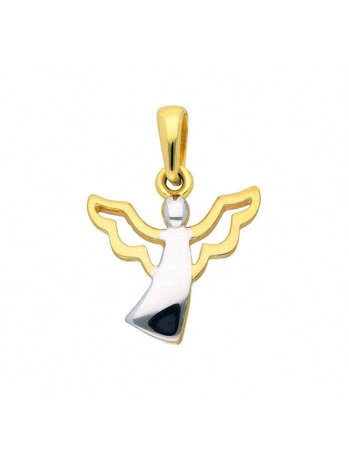 1001 Diamonds Damen Goldschmuck 333 Gold Anhänger Engel, gold