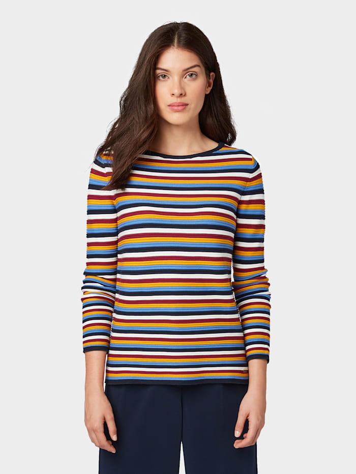 Tom Tailor Gestreifter Strick-Sweater, mutlicolor stripe