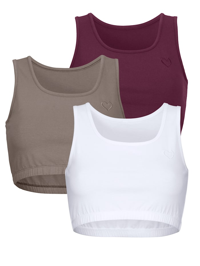 Bustier aus Organic Cotton 3er Pack