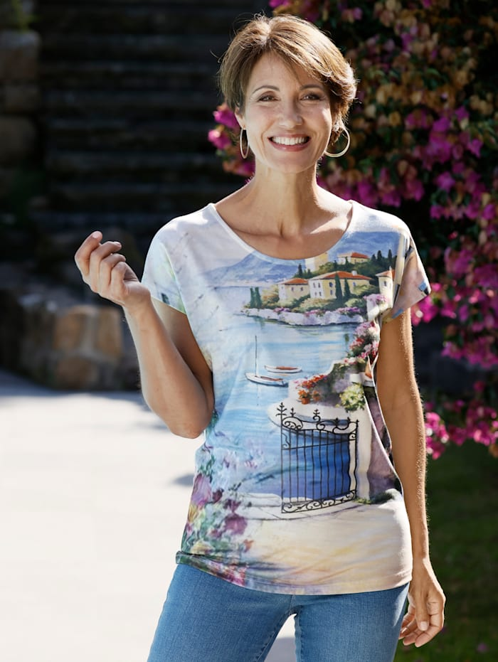 Paola Shirt mit Motivdruck, Multicolor