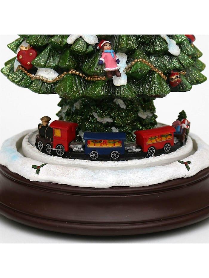 Schneekugel Baum Eisenbahn