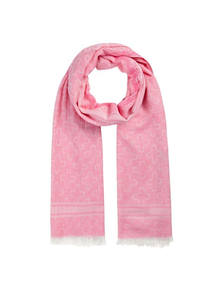 Codello Logo-Schal aus edler Baumwolle, dark pink