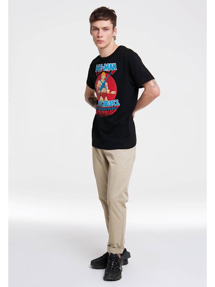 Logoshirt T-Shirt He-Man mit großem Masters of the Universe-Aufdruck, schwarz